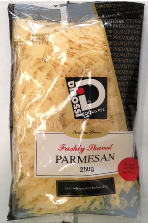 DIROSSI SHAVED PARMESAN CHEESE 250G